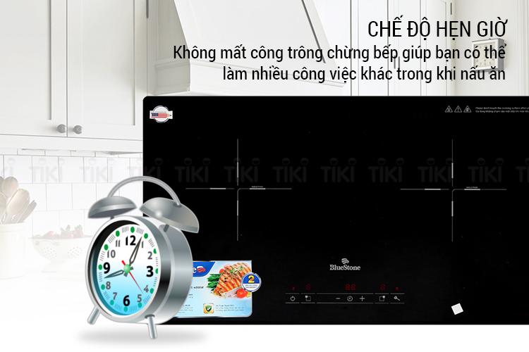 Bếp Âm Đôi Từ - Hồng Ngoại Bluestone ICB-6818 (4000W)