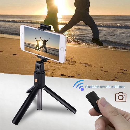 Gậy Selfie K07 Điều Khiển Từ Xa Bluetooth 3 Chân