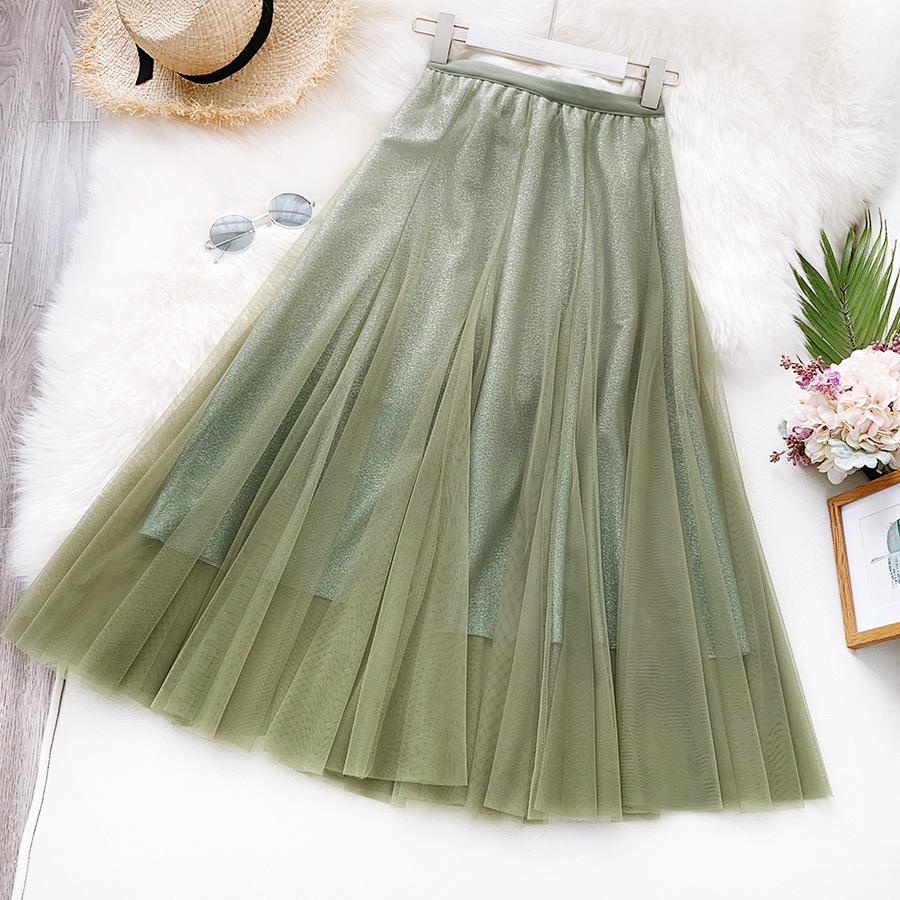 Váy xòe lưới tutu loang mầu lấp lánh VAY53 5