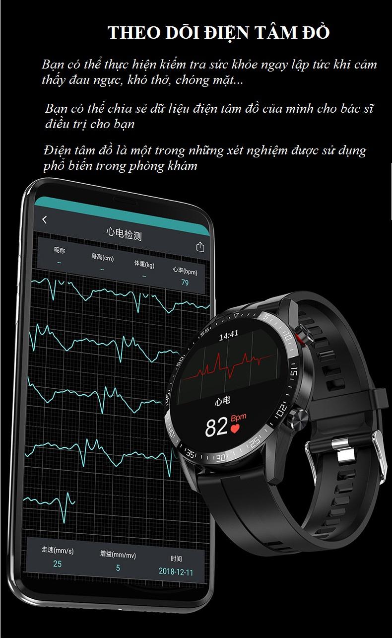 Đồng hồ theo dõi Sức khỏe cao cấp 1.3 -Theo dõi và nhắc nhở vận động 10