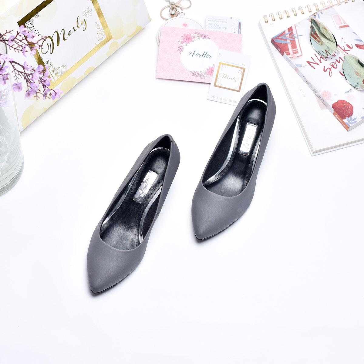 Giày gót thấp mũi nhọn Merly 1069 4