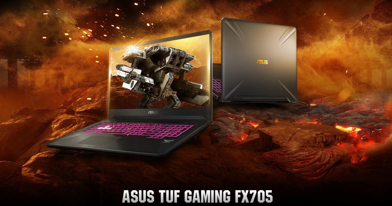 """Laptop Asus TUF Gaming FX705DD-AU059T AMD R7-3750H/ GTX 1050 3GB/ Win10 (17.3"""" FHD IPS) - Hàng Chính Hãng"""