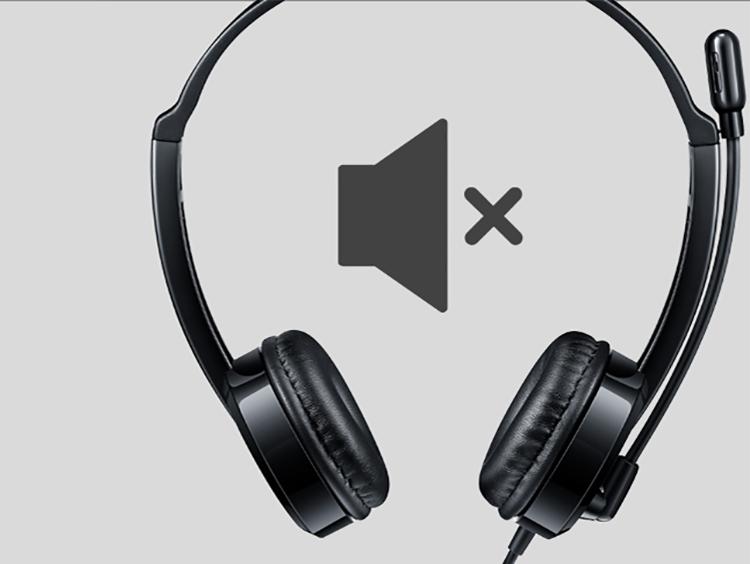 Tai Nghe Có Dây Chụp Tai On-ear Rapoo H120 USB Stereo - Hàng Chính Hãng