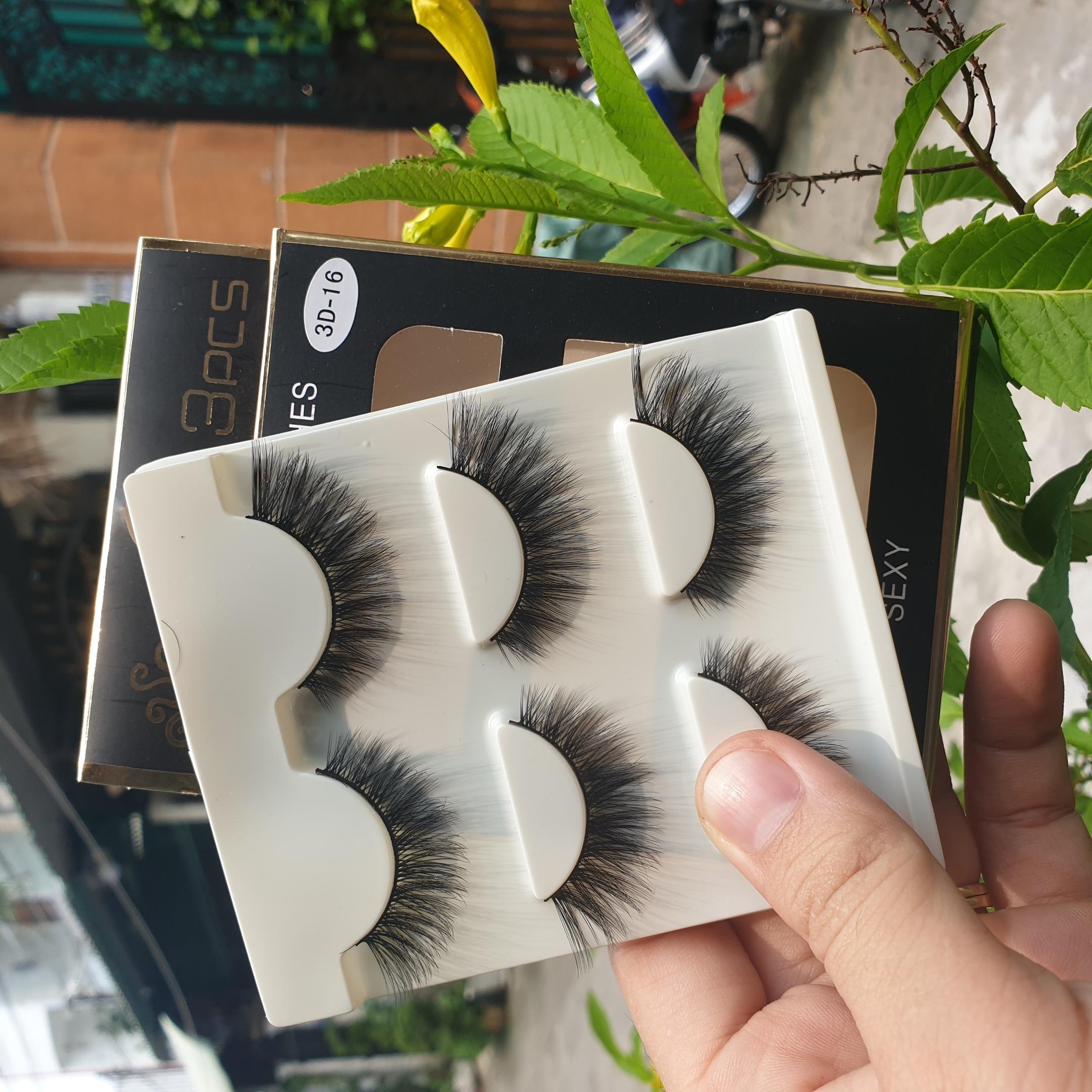 Lông mi giả lông chồn 3 Fashion Eyelashes 3 Faux-Cils 3D 1 bộ 3 cặp 64