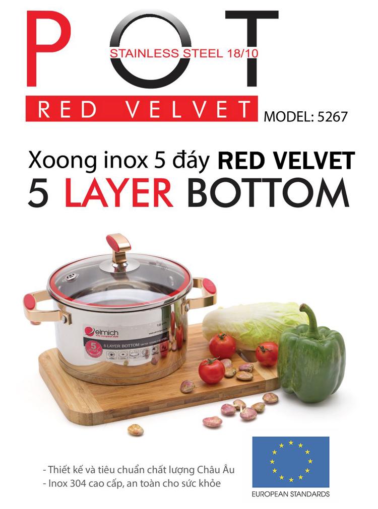 Xoong Elmich Inox 304 Red Velvet