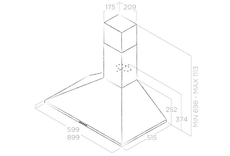 Máy Hút Mùi Dạng Ống Elica TAMAYA PB IX/A/60 (No Filter) (60cm) - Hàng Chính Hãng