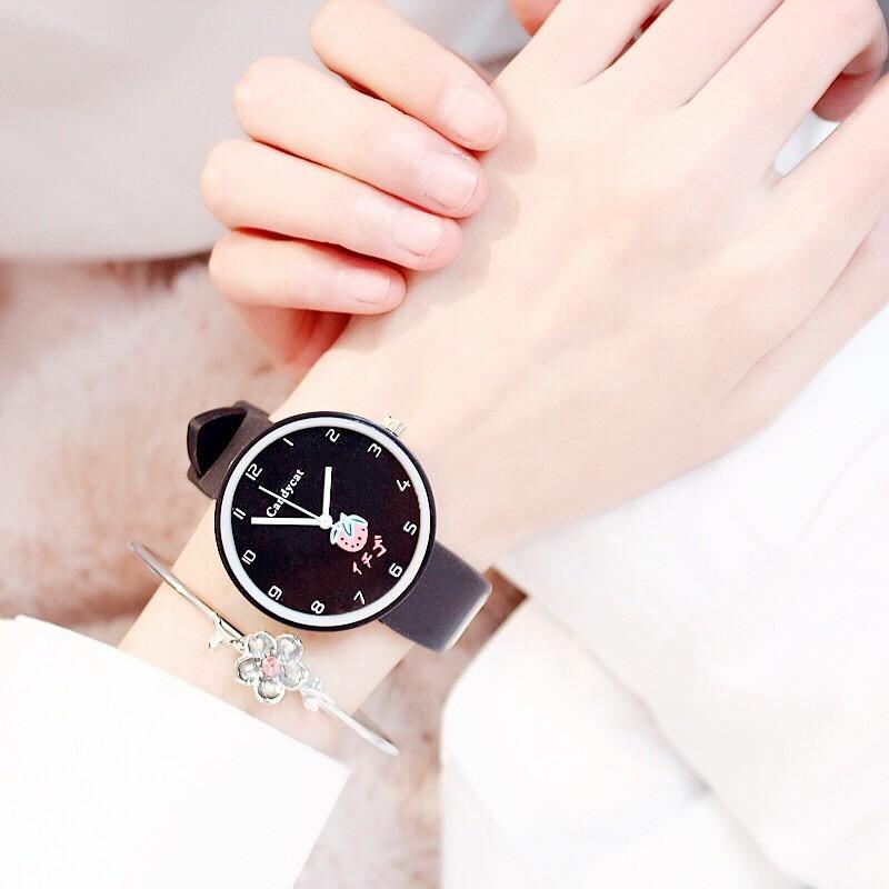 Đồng hồ nữ trái dâu Nhật Bản 4 màu thời trang 14