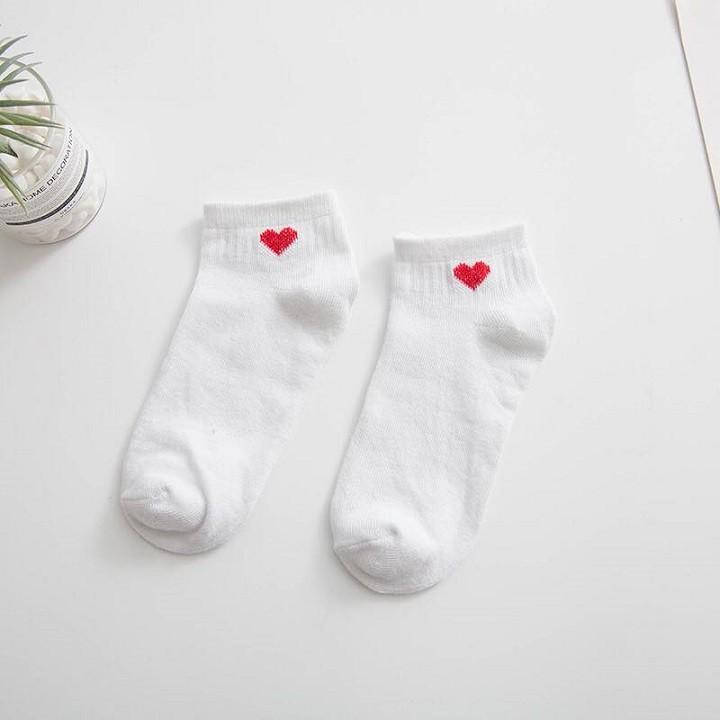 Tất vớ dành cho các bạn nữ họa tiết trái tim phong cách hàn quốc unisex TN07 3