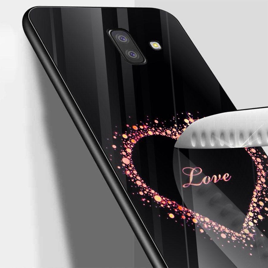 Ốp kính cường lực cho điện thoại Samsung Galaxy J6 - trái tim tình yêu MS LOVE041
