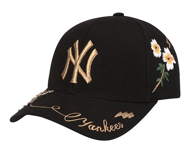 Mũ Lưỡi Trai Thêu Hoa Văn Phong Cách Hàn Quốc MLB NY Yankees (55cm-59cm)