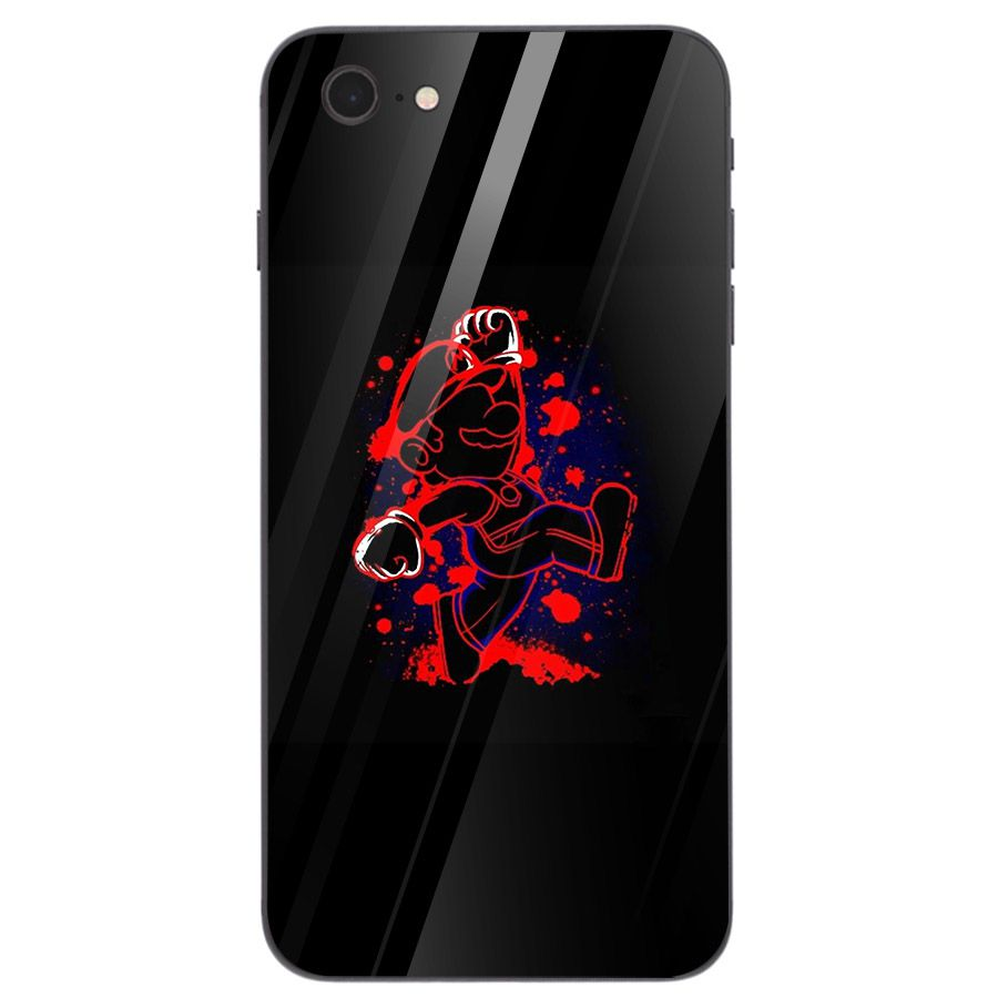 Ốp điện thoại kính cường lực cho máy iPhone 5/5s/se - super mario MS MARIO014