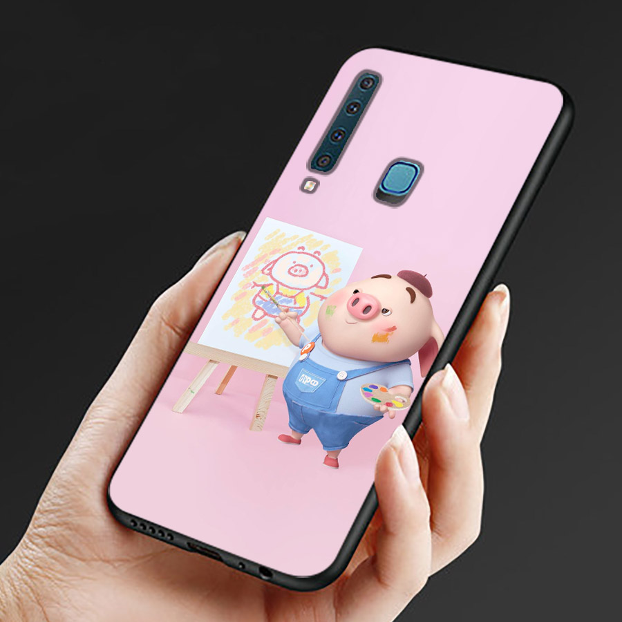 Ốp lưng cứng viền dẻo dành cho điện thoại Samsung Galaxy M20 - Heo Dễ Thương MS HDTDD066