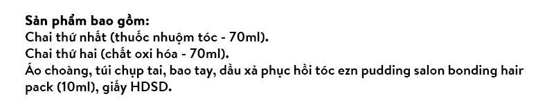 THUỐC NHUỘM TÓC HÀN QUỐC EZN SHAKING PUDDING HAIR COLOR 1.0 KHÔNG CHẤT ĐỘC HẠI 12