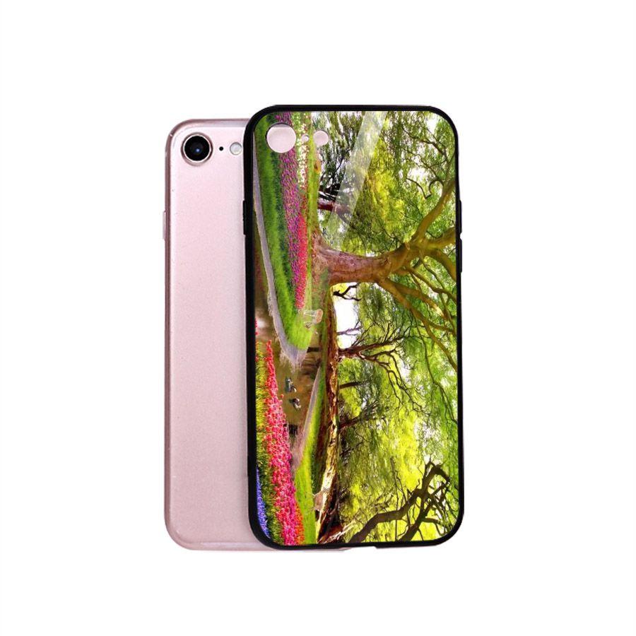 Ốp điện thoại kính cường lực cho máy iPhone 5/5s/se - Vườn Hoa MS VHOA043