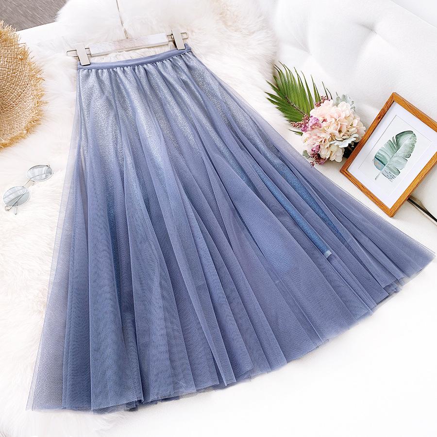 Váy xòe lưới tutu loang mầu lấp lánh VAY53 1
