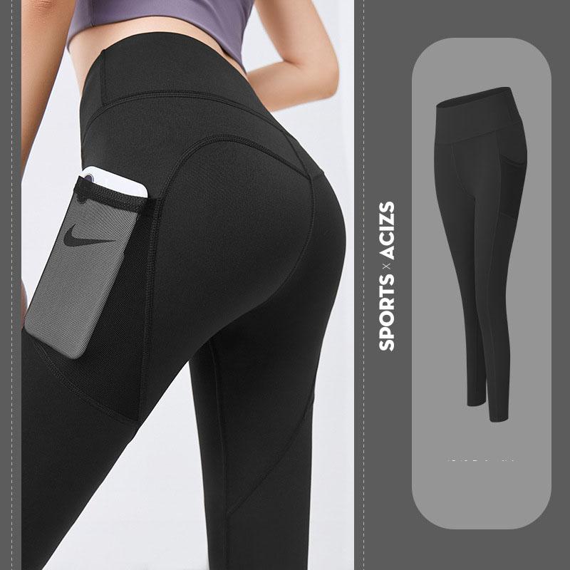 Quần thể thao nữ quần legging co giãn nhanh khô, túi hai bên phối lưới, quần yoga chạy bộ mã MTCK9016 8