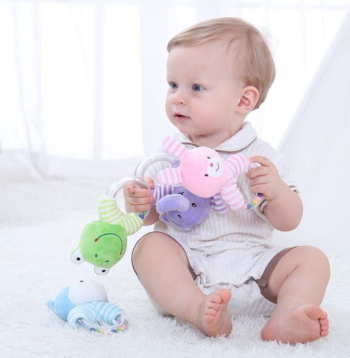Lục lạc cho bé chất liệu vải bông Hình thú ngộ nghĩnh 1