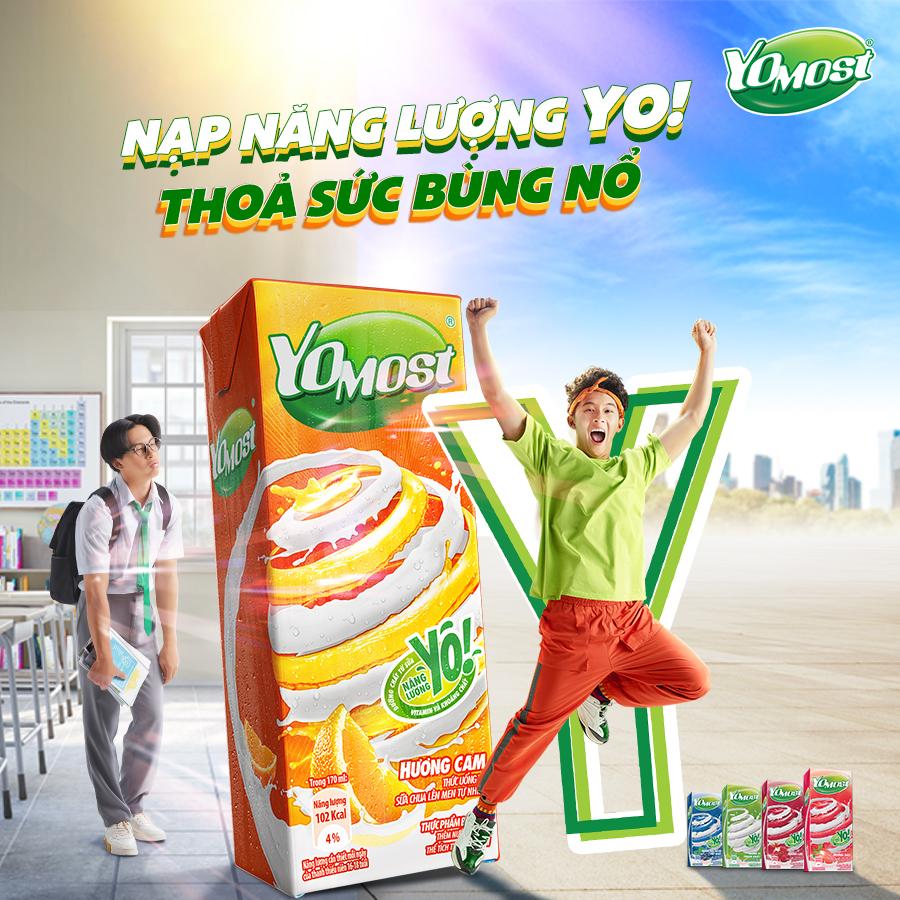 Thùng 48 Hộp Sữa Chua Lên Men Tự Nhiên Yomost Bạc Hà - Việt Quất (170ml/Hộp)