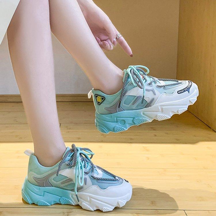Giày thể thao nữ, giày sneaker nữ lưới đế 3 màu thời trang Hàn Quốc 3