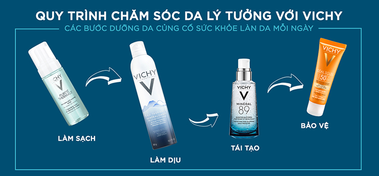 Bộ Xịt Khoáng Dưỡng Da Vichy Mineralizing Thermal Water (1(50ml) + Tặng Dưỡng Chất Giàu Khoáng Chất Mineral 89