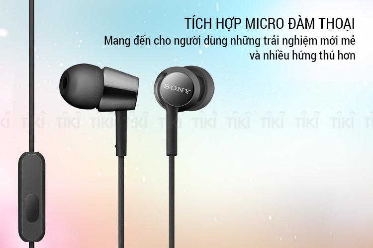 Tai Nghe Nhét Tai Sony MDR-EX155AP - Hàng Chính Hãng