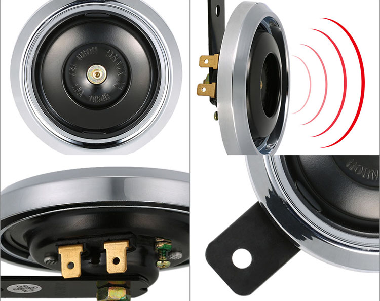 DC 12V 1.5A 105dB Universal Waterproof Motorcycle Loud Electric Horn
