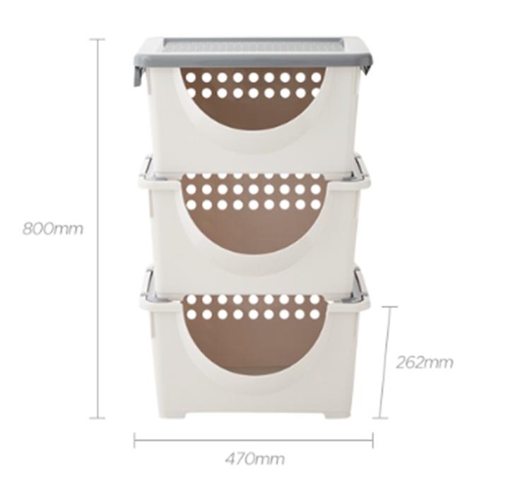 Bộ Sản Phẩm Rổ Nhựa Có Tay Cầm Wing Basket Lock&Lock Inp421Ls3