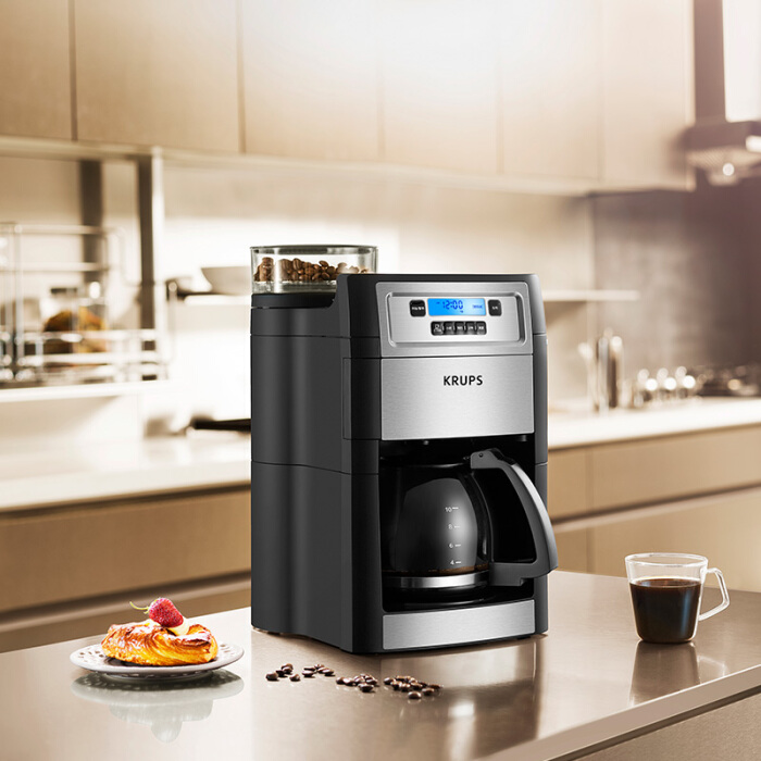 Krupp (KRUPS) coffee machine consumer and commercial fully automatic grinding drip dual-use American coffee pot KM785D80