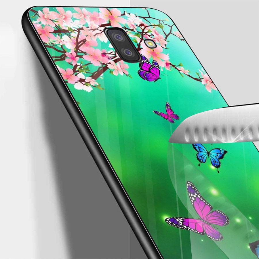 Ốp kính cường lực cho điện thoại Samsung Galaxy J4 - J6 - J6 PLUS - J6 PRIME - J8 - bướm đẹp MS ANH028