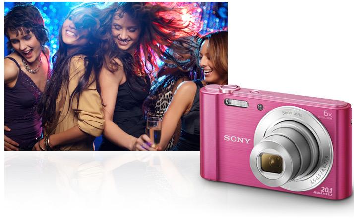 Combo Máy Ảnh Sony Cybershot DSC-W830 - Tặng Thẻ 16GB + Túi - Hàng Chính Hãng