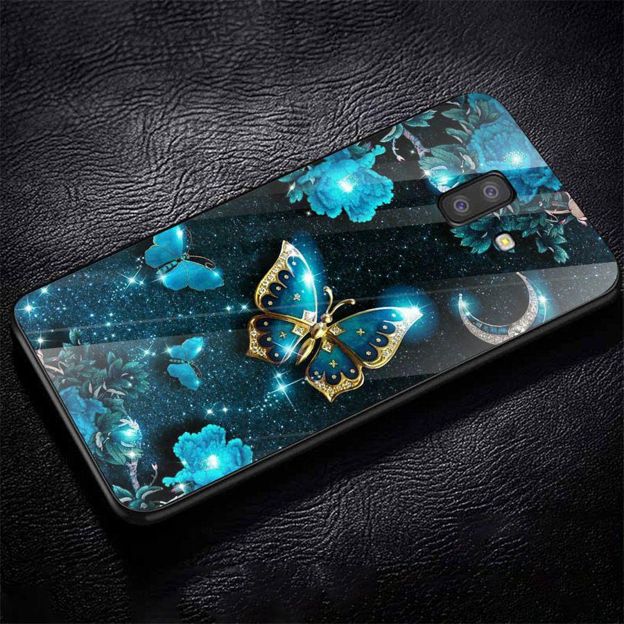 Ốp kính cường lực cho điện thoại Samsung Galaxy J4 - J6 - J6 PLUS - J6 PRIME - J8 - bướm đẹp MS ANH090