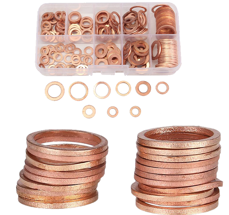 Gasket Washers Sump Plug NEW Solid Copper 20Pcs/Pack Anti-Crush General