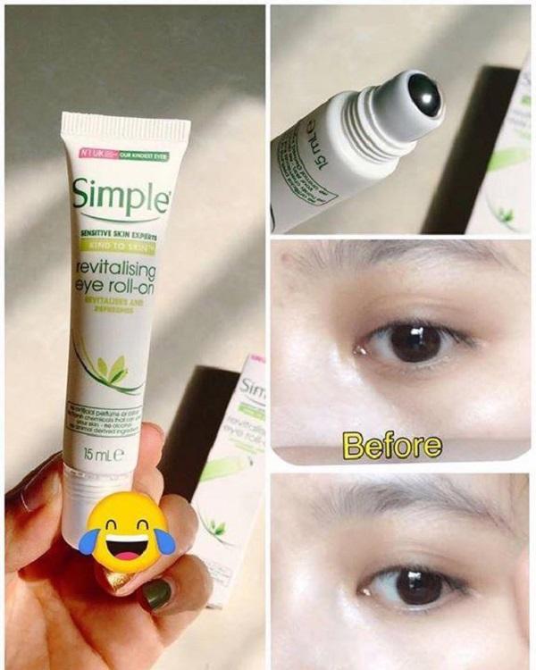Lăn dưỡng mắt Simple Kind To Eyes Revitalising Eye Roll-On 15ml - Kem dưỡng  vùng mắt Nhãn hiệu SIMPLE | MuaDoTot.com