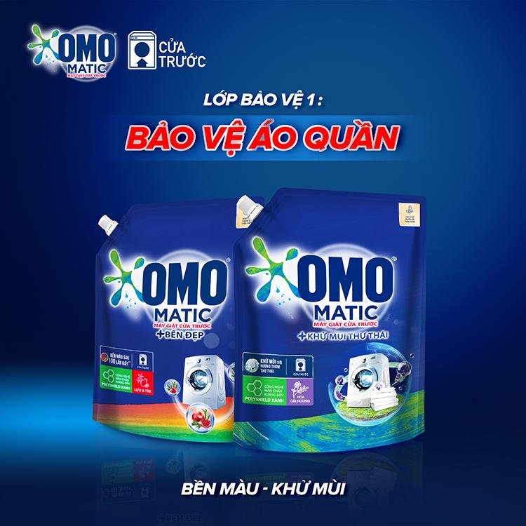 Túi Nước Giặt OMO Matic Khử Mùi Thư Thái