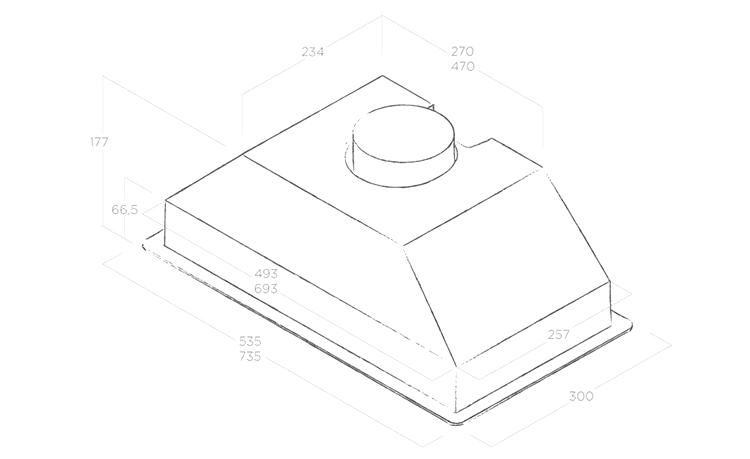 Máy Hút Mùi Âm Tủ Elica ERA C IX/A/72  (No Filter)  (73.5cm) - Hàng Chính Hãng