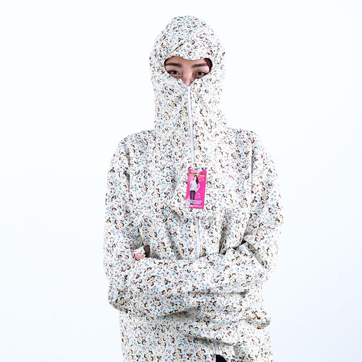 Áo chống nắng vải thô 2 lớp dáng ngắn nữ 1