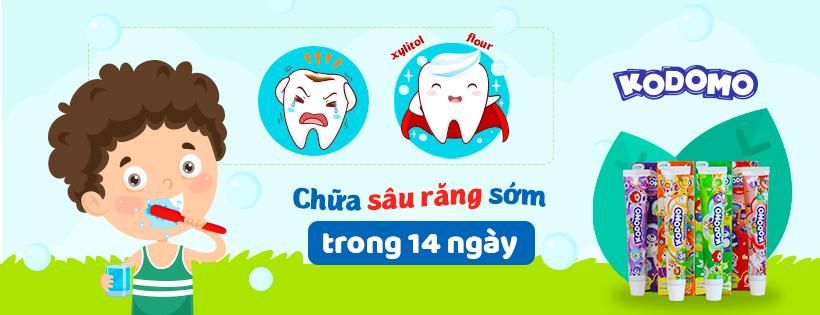 Kem Đánh Răng Trẻ Em Kodomo Hương Dâu - 45g