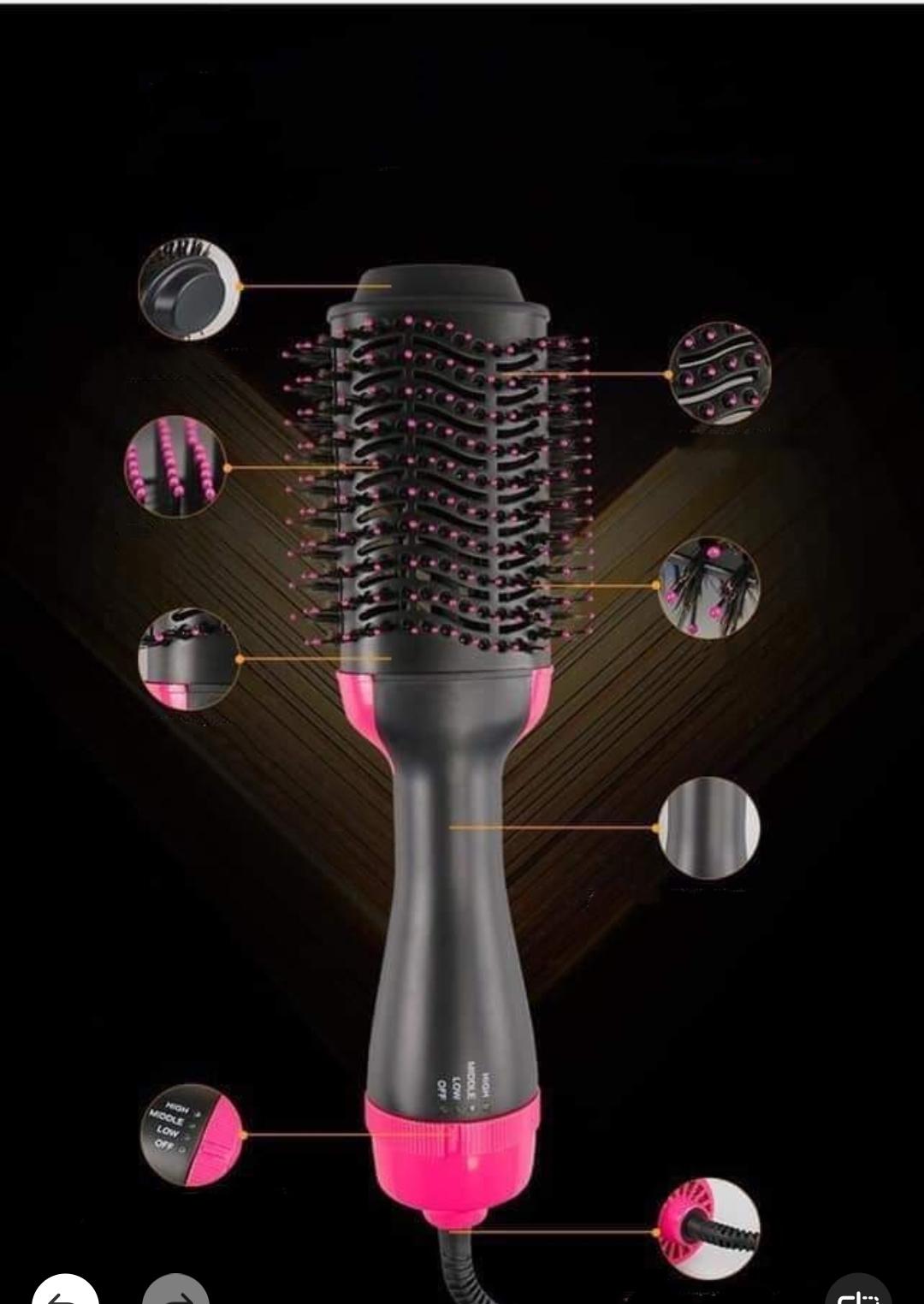Máy uốn tóc đa năng tạo độ xoăn có sấy khí 3 in1 tặng kèm dây buộc tóc đính đá ( hình ngẫu nhiên) 9