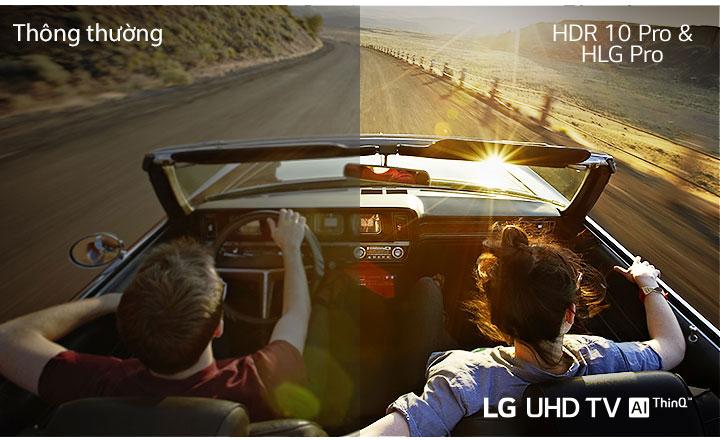 HDR 10 Pro & HLG Pro - Thưởng thức mọi nội dung với độ nét cao trung thực