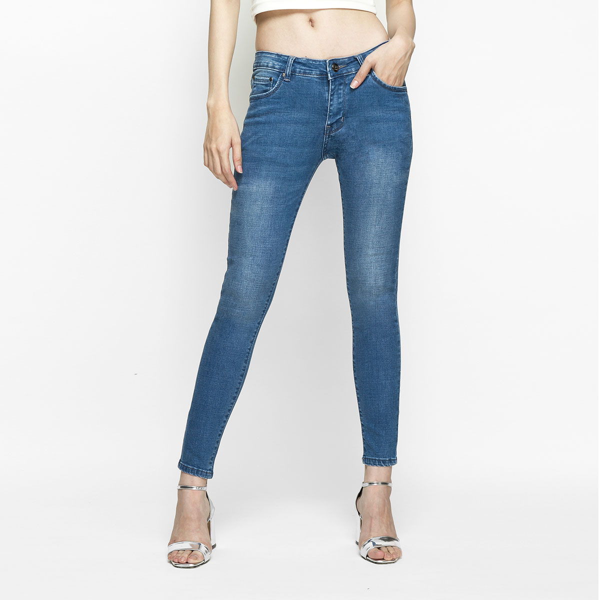 Quần Jean Nữ Skinny Lưng Vừa Aaa Jeans Có Nhiều Màu Size 26 - 32 15