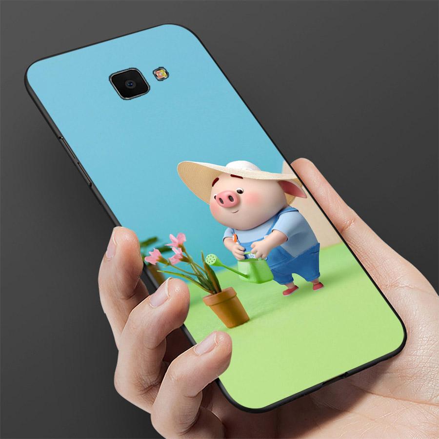 Ốp lưng cứng viền dẻo dành cho điện thoại Samsung Galaxy A7 2017 - Heo Thiên Thần Dễ Thương MS HTTDD012