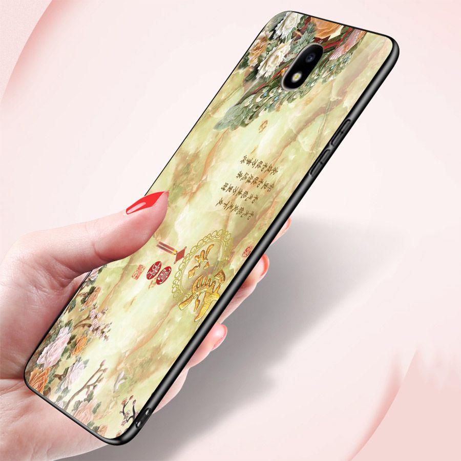 Ốp kính cường lực cho điện thoại Samsung Galaxy J7 - chim công phượng MS CPHUONG096