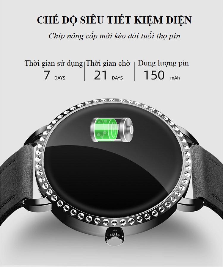 Đồng hồ theo dõi sức khỏe H7 (chống nước IP67) 12