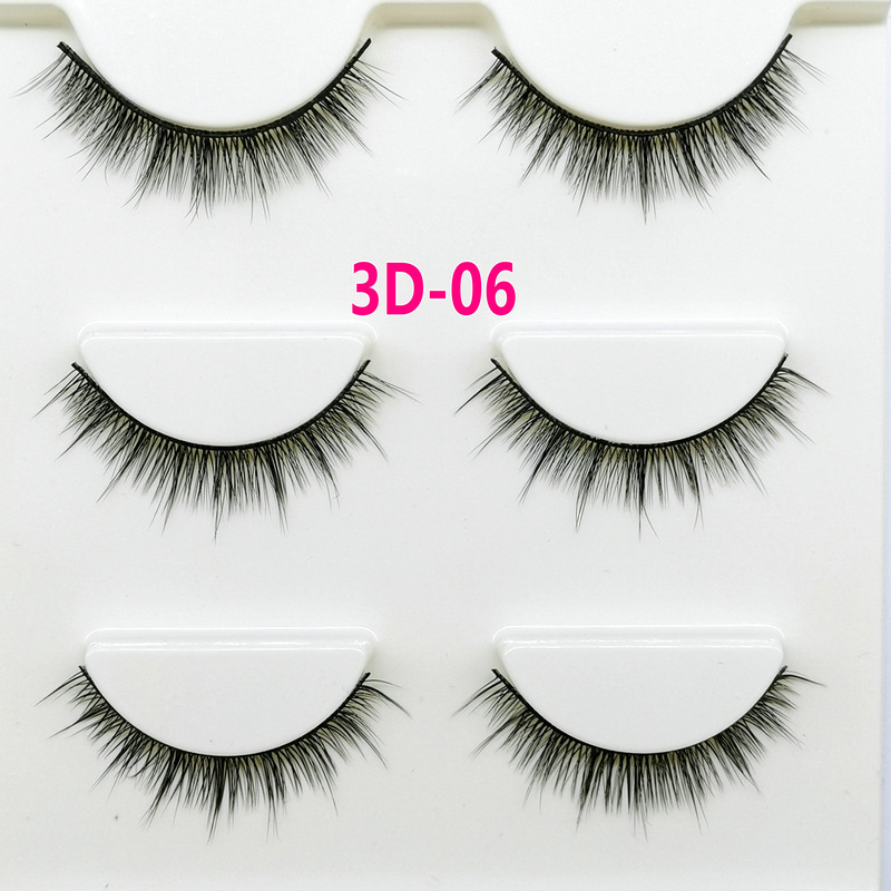 Lông mi giả lông chồn 3 Fashion Eyelashes 3 Faux-Cils 3D 1 bộ 3 cặp 22