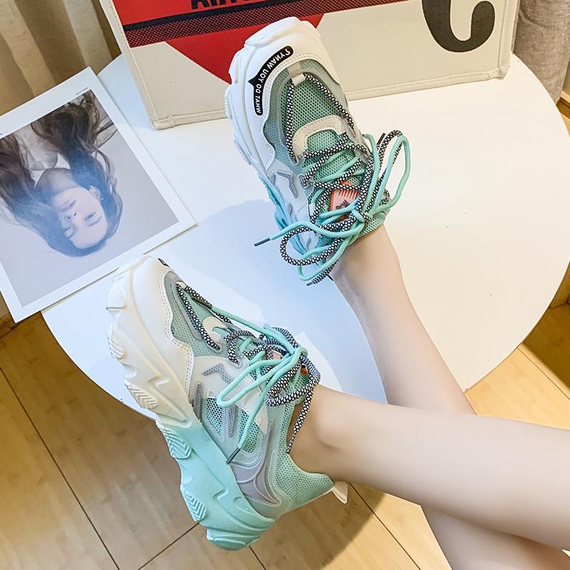 Giày thể thao nữ, giày sneaker nữ lưới đế 3 màu thời trang Hàn Quốc 8