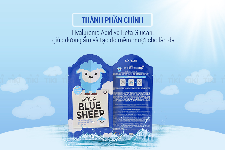 Hộp 10 Miếng Mặt Nạ Dưỡng Da Rainbow L'Affair Aqua Blue Sheep Mask