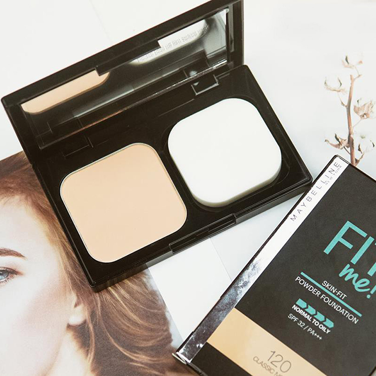 Phấn Nền Maybelline Fit Me Skin-Fit Powder Foundation 9gr Siêu Mịn Màng PM714 19