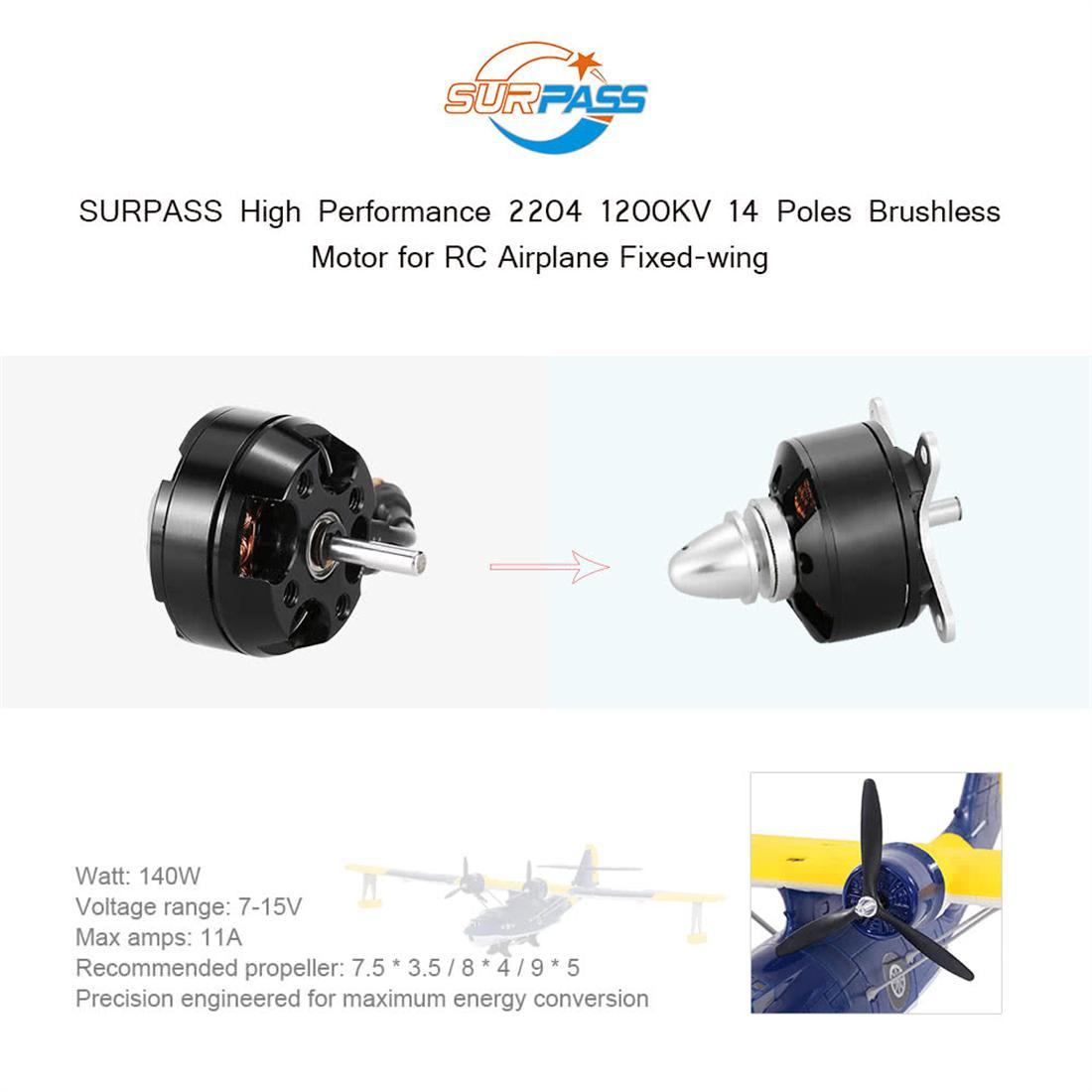 Động Cơ Không Chổi Than SURPASS C2204-27 Cho Máy Bay Điều Khiển RC Cánh Cố Định