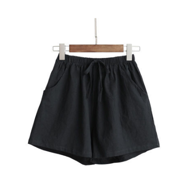 Quần đùi short nữ vải đũi thời trang mát mẻ mùa hè QĐ06 8