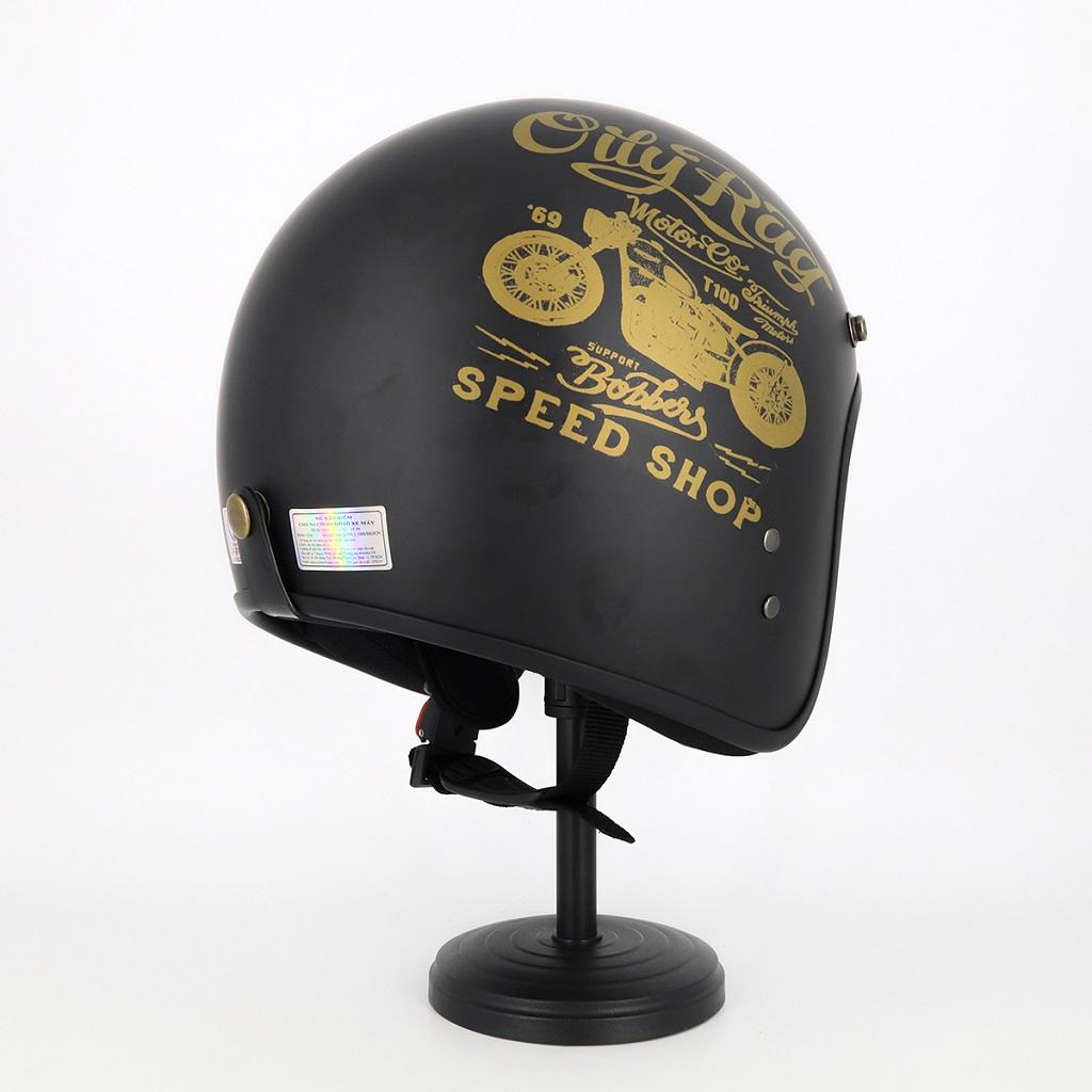 Mũ Bảo Hiểm 3 4 Đầu Tem Xe Siêu Chất - Mũ Bảo Hiểm Chuyên Phượt Cao Cấp 3
